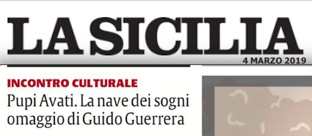 SMF su La Sicilia del 4 marzo 2019 Moderatore dell'incontro culturale con Guido Guerrera e Elena Pilato