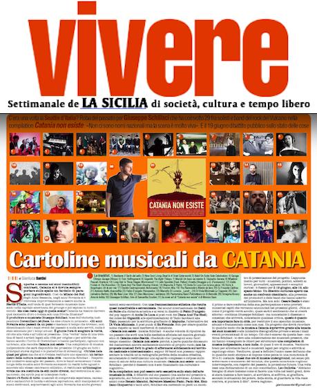 """Su """"Vivere"""" de La Sicilia #CataniaNonEsiste il progetto di Giuseppe Schillaci che coinvolge anche SMF"""