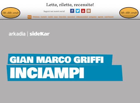 SMF per Letto, riletto, recensito! – Gian Marco Griffi – Inciampi – Arkadia Editore  Il ConsigLIBRO Estate 2019