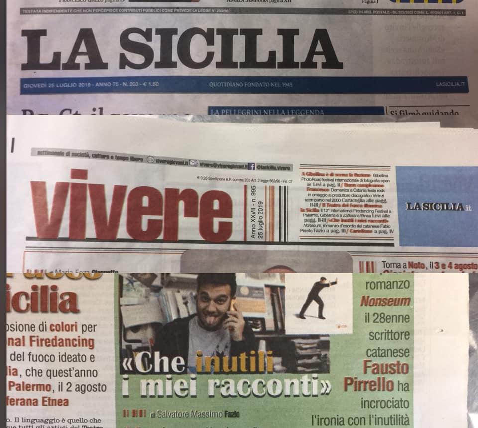 """SMF per VIVERE inserto del giovedì de La Sicilia – Intervista a Fausto Pirrello per il suo """"Nonseum"""" – Scatole parlanti"""