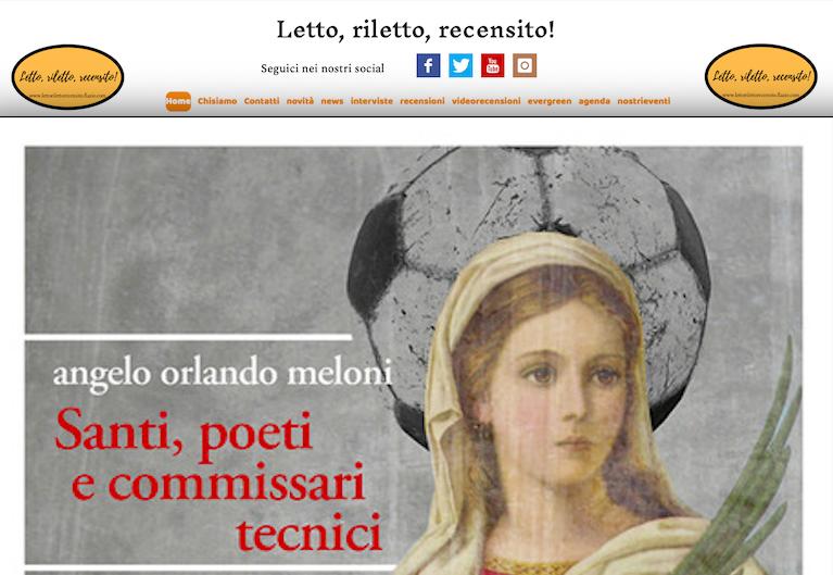 SMF per Letto, riletto, recensito! – Angelo Orlando Meloni – Santi, poeti e commissari tecnici – Miraggi edizioni – La recensione