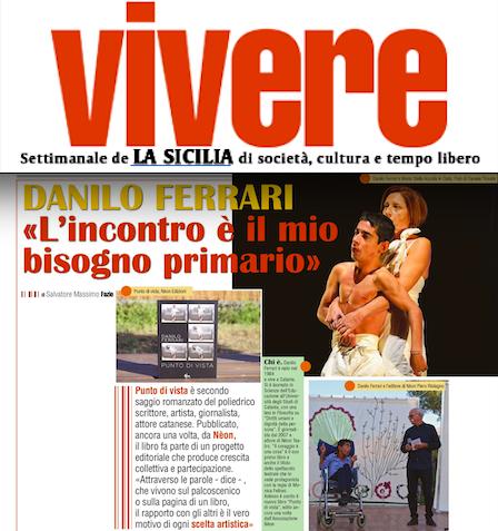 SMF per VIVERE – Intervista e prima pagina a Danilo Ferrari: «L'incontro è il mio bisogno primario»