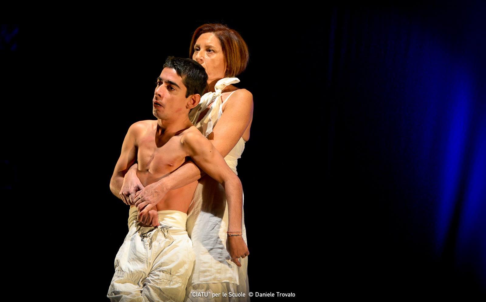 Danilo con Maria Stella Accolla in CIATU. Foto Daniele Trovato