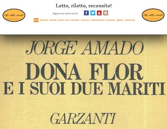 SMF per Letto, riletto, recensito! – Jorge Amado – Dona Flor e i suoi due mariti – Recensione