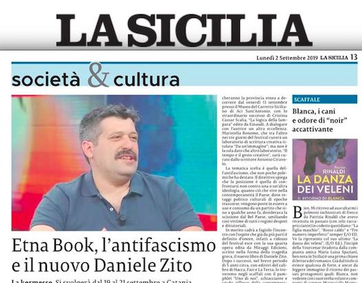 SMF per La Sicilia – Etna Book, l'antifascismo e il nuovo Daniele Zito