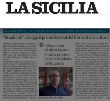 """SMF su La Sicilia – """"Etnabook"""" da oggi il primo festival del libro e della cultura"""