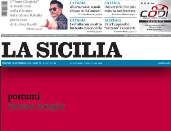 """SMF per La Sicilia – Intervista a Cateno Tempio, per il suo approdo a Eretica Edizioni con """"Postumi"""""""