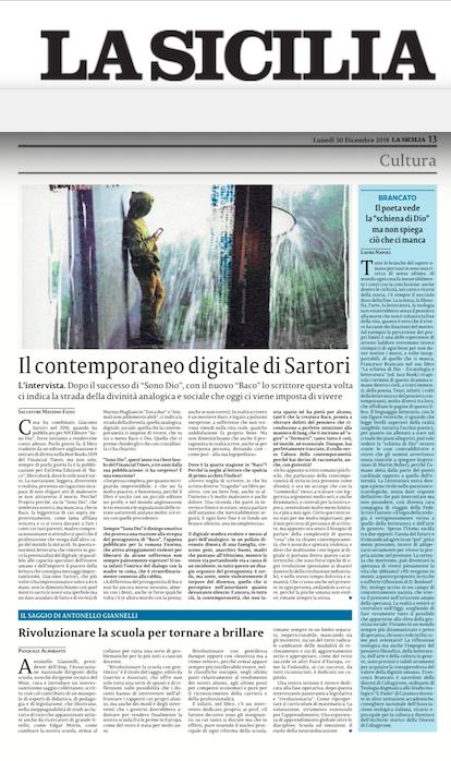 SMF per La Sicilia  – Il contemporaneo digitale di Sartori
