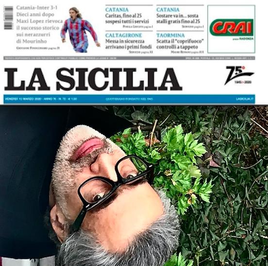 """SMF per La Sicilia – """"Saporito, lo scrittore che ama instillare dubbi nel lettore"""""""