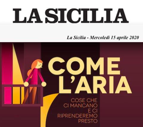"""SMF per La Sicilia – Esce oggi """"Come l'aria"""", il progetto di Les Flaneurs edizioni per resistere al covid19"""