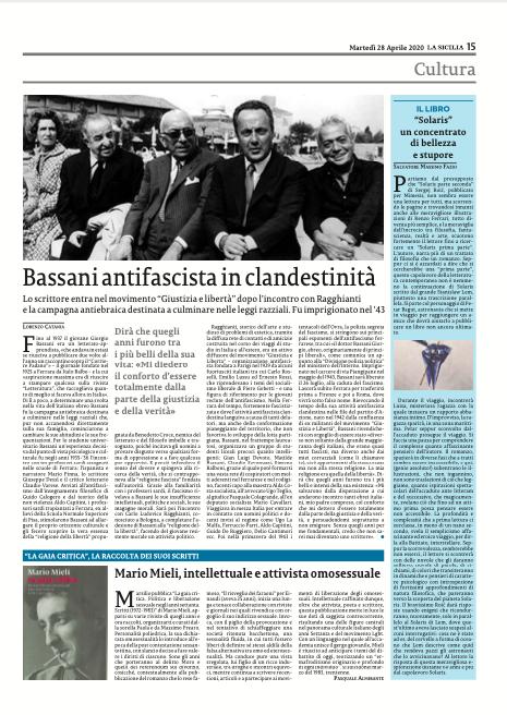 La Sicilia del 28 aprile. Clicca sulla pagina per acquistare il quotidiano a sole 0,70 €