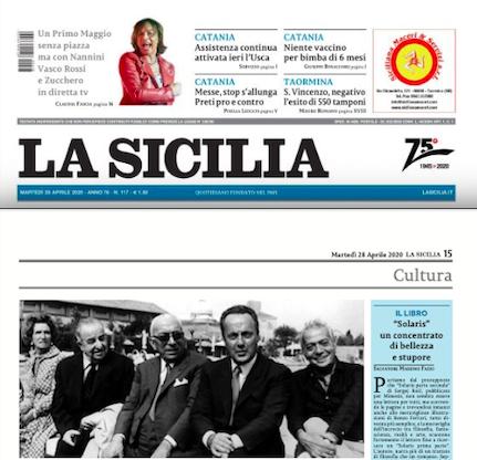 """SMF per La Sicilia – """"Solaris"""" un concentrato di bellezza e stupore"""