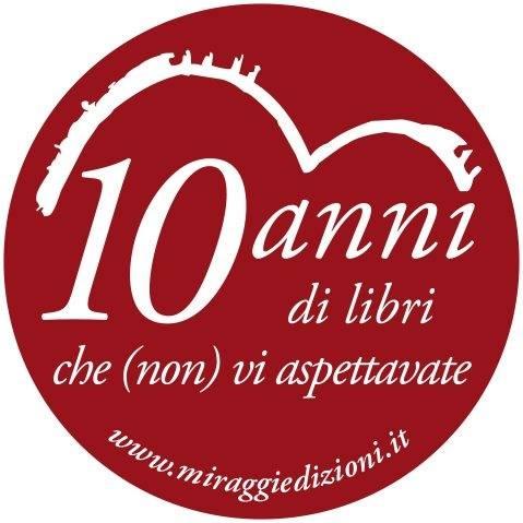Lo speciale logo per i 10 anni Miraggi edizioni