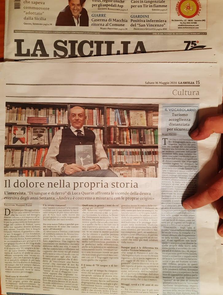 Clicca per acquistare La Sicilia del 16 maggio 2020 – a 0,70 €