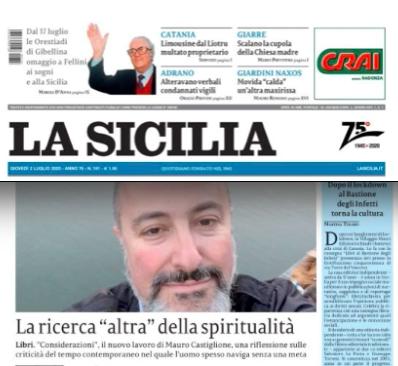 """SMF per La Sicilia – La ricerca """"altra"""" della spiritualità"""