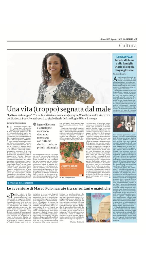 Clicca sulla pagina de La Sicilia per acquistare la tua copia