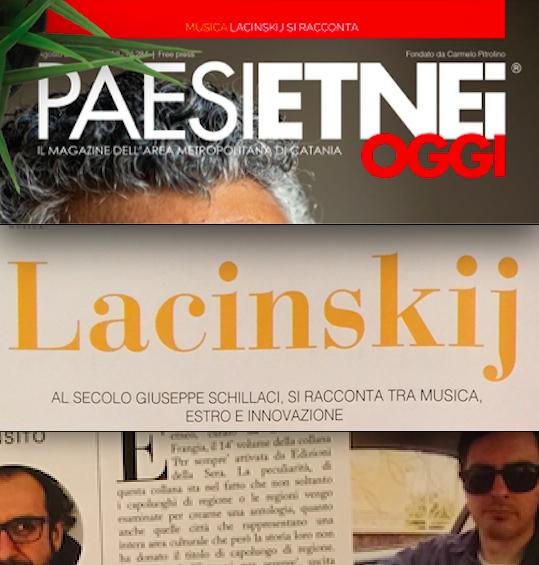 """SMF per Paesi Etnei Oggi n. 284 – Agosto 2020 – La recensione a """"Catanesi per sempre"""" (a cura) di Daniele Di Frangia e servizio al musicista Lacinskij"""