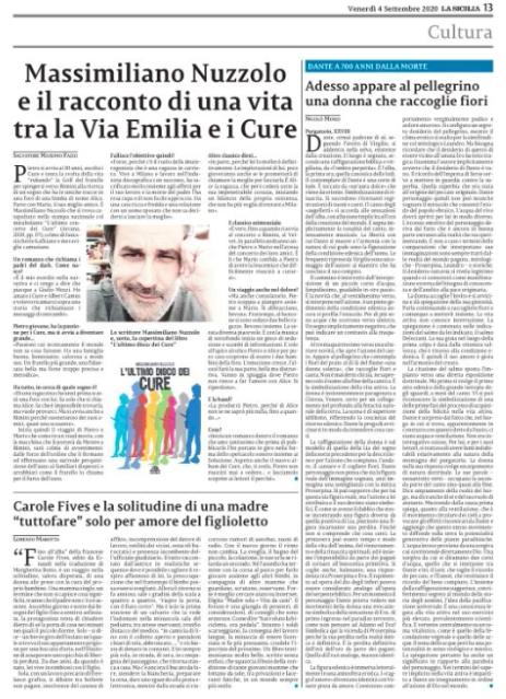 Clicca sulla pagina per leggere l'articolo integralmente acquistando La Sicilia del 4/9/2020