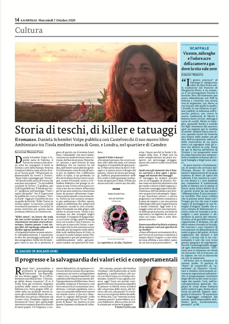Clicca sulla pagina per acquistare e continuare a leggere l'anteprima concessa dall'autrice al quotidiano La Sicilia