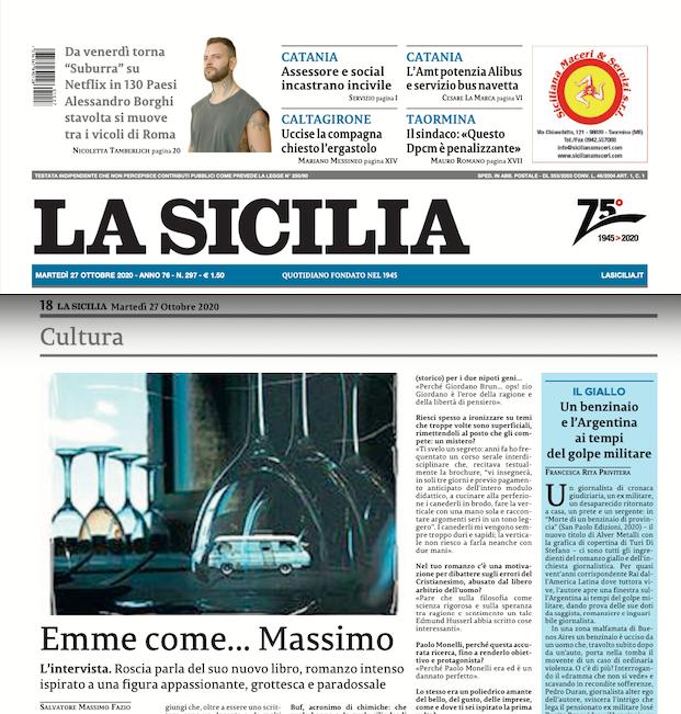 SMF per La Sicilia – Emme come… Massimo – L'intervista a Massimo Roscia