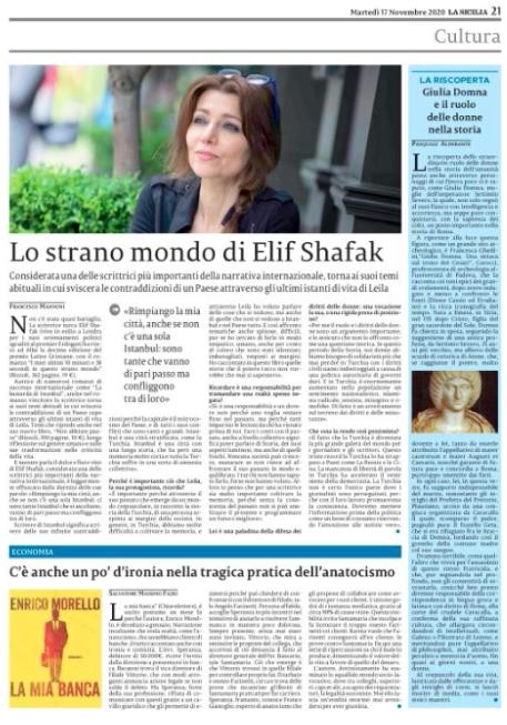 Clicca sulla pagina del La Sicilia per leggere l'articolo