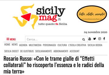 """SMF per SicilyMag – Rosario Russo: «Con le trame gialle di """"Effetti collaterali"""" ho riscoperto l'essenza e le radici della mia terra»"""