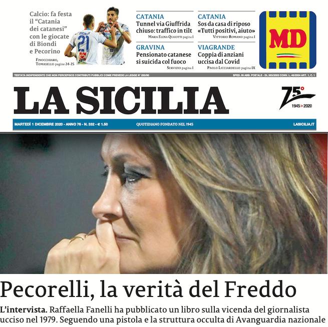 SMF per La Sicilia – Pecorelli, la verità del Freddo – L'intervista a Raffaella Fanelli