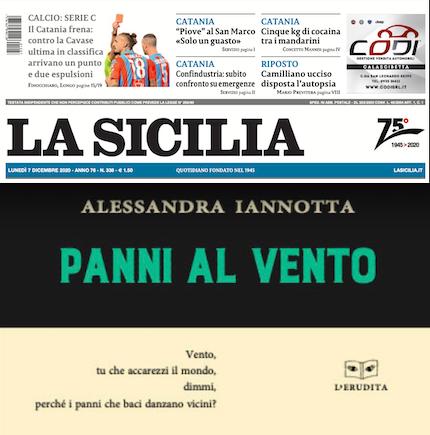 """SMF per La Sicilia – """"I panni al vento"""" di Alessandra Iannotta «Frame di vita» – L'intervista"""