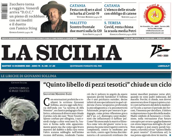 """SMF per La Sicilia – """"Quinto libello di pezzi tesotici"""" chiude un ciclo – La recensione"""