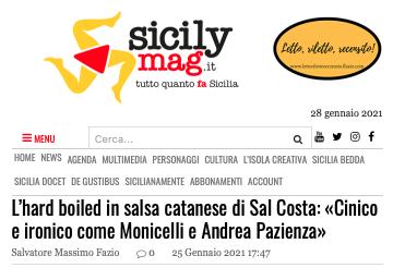 SMF per SicilyMag – L'hard boiled in salsa catanese di Sal Costa: «Cinico e ironico come Monicelli e Andrea Pazienza» – L'intervista