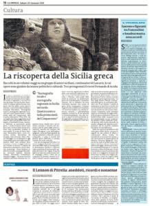 Clicca sulla pagina de La Sicilia per leggere l'articolo integrale
