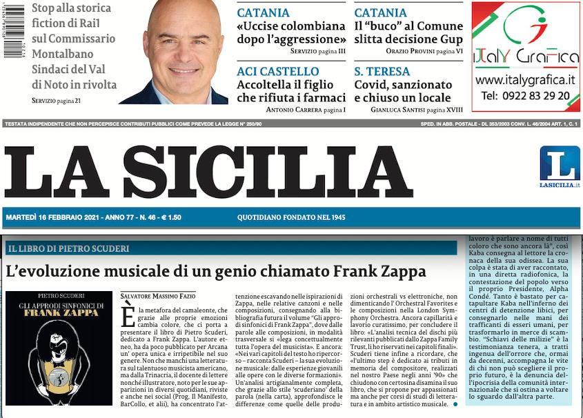SMF per La Sicilia – L'evoluzione musicale di un genio chiamato Frank Zappa – Il libro di Pietro Scuderi