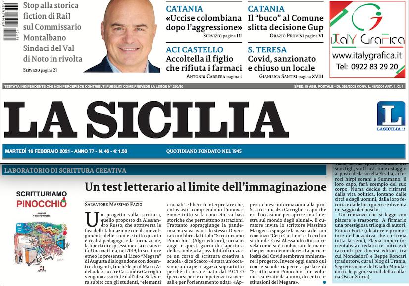 SMF per La Sicilia – Un test letterario al limite dell'immaginazione – Il Pinocchio scritturato da Russo