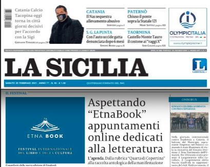 """SMF su La Sicilia – Aspettando """"EtnaBook""""  appuntamenti online dedicati alla letteratura"""