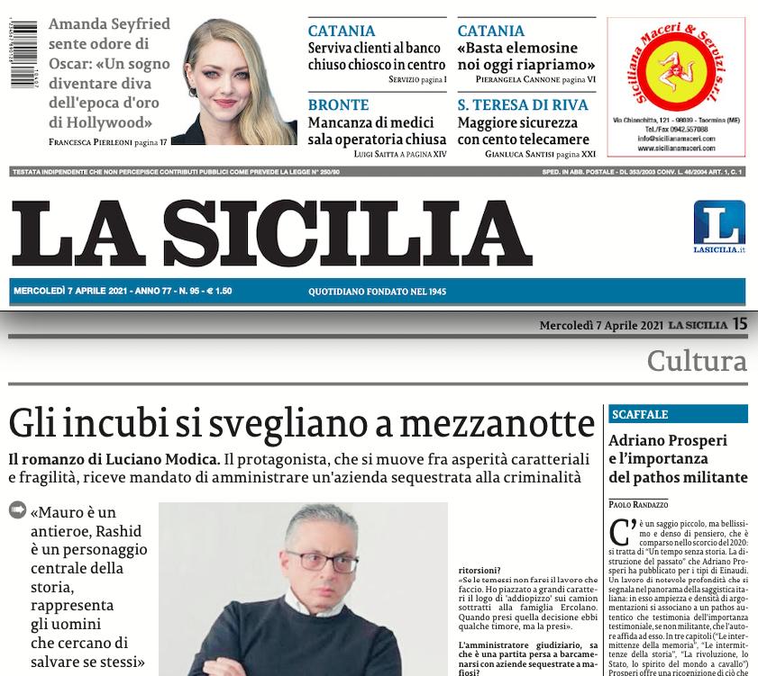SMF per La Sicilia – Gli incubi si svegliano a mezzanotte – Intervista a Luciano Modica