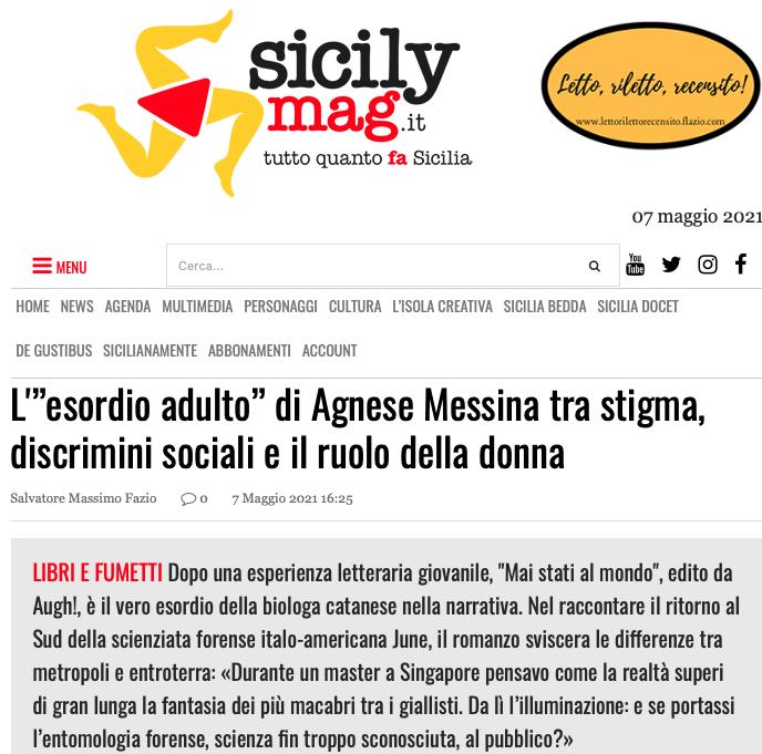 """SMF per SicilyMag – L'""""esordio adulto"""" di Agnese Messina tra stigma, discrimini sociali e il ruolo della donna"""