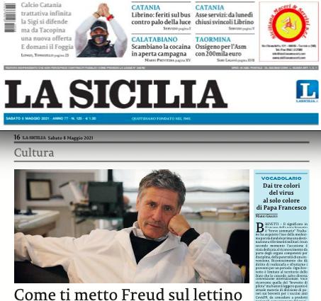 SMF per La Sicilia – Come ti metto Freud sul lettino – Recensione al nuovo libro di Rosario Sorrentino