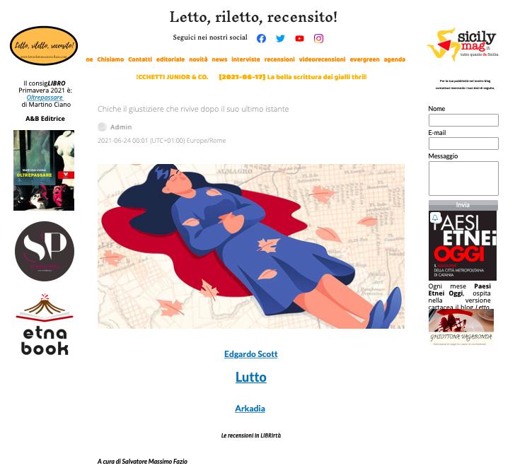 SMF per Letto, riletto, recensito! – Chiche il giustiziere che rivive dopo il suo ultimo istante