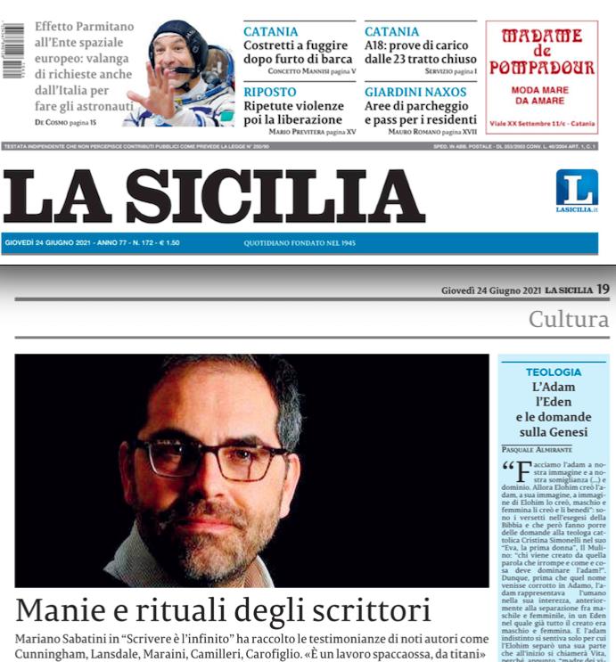 SMF per La Sicilia – Manie e rituali degli scrittori (Intervista a Mariano Sabatini)