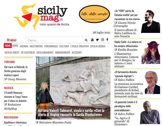 SMF per SicilyMag – Adriana Valenti Sabouret, sicula e sarda: «Con la storia di Angioy racconto la Sarda Rivoluzione»