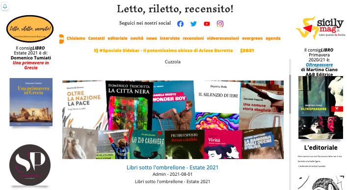 SMF per Letto, riletto, recensito! – Libri sotto l'ombrellone – Estate 2021