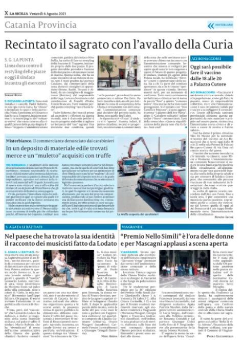 Clicca sulla pagina per leggere La Sicilia in pdf