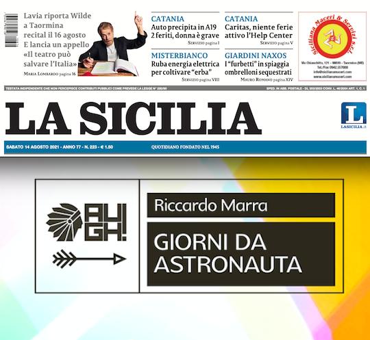 """SMF per La Sicilia – Quegli ironici e amari """"Giorni da astronauta"""" del catanese Marra"""