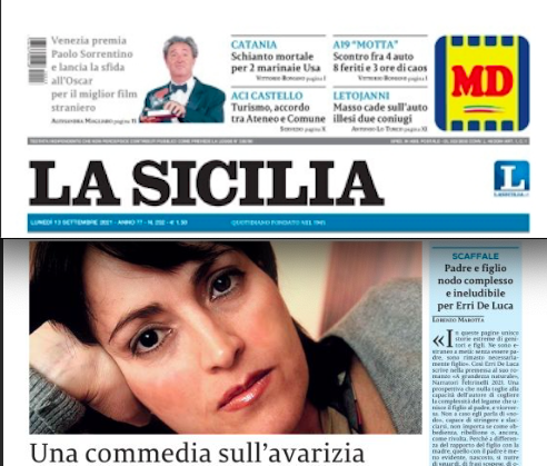 SMF per La Sicilia – Una commedia sull'avarizia (il nuovo libro di Paola Musa)