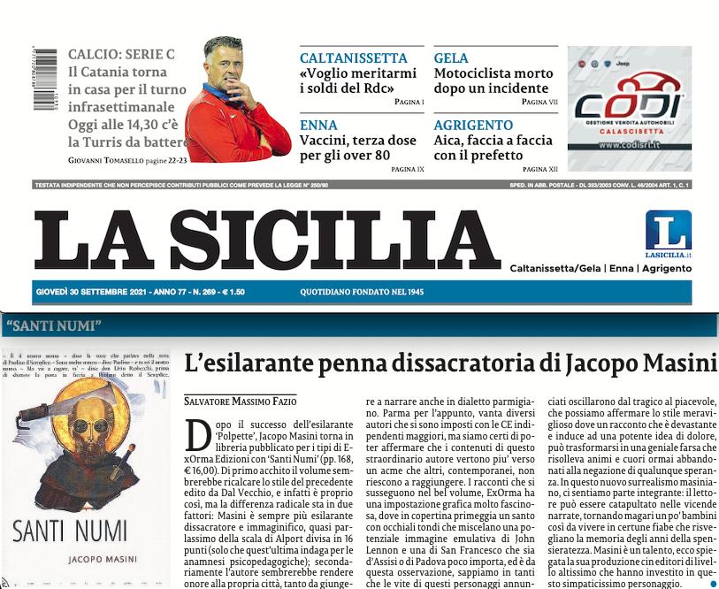 SMF per La Sicilia – L'esilarante penna dissacratoria di Jacopo Masini