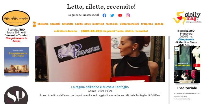SMF per Letto, riletto, recensito! – La regina dell'anno è Michela Tanfoglio