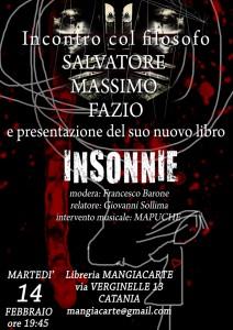 Presentazione Insonnie - Mangiacarte, Catania